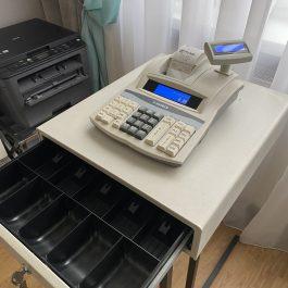Naudotas kasos aparatas MP-55 PLUS su stalčiuku